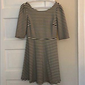 Striped A-line Dress, SO FLATTERING, Medium